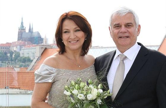 Zlata Adamovsk� a Petr �t�p�nek se vzali 28. �ervna 2013.