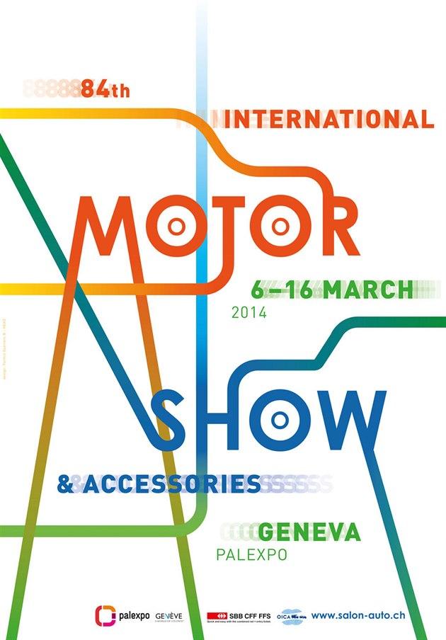 Oficiální plakát 84. ročníku ženevského autosalonu