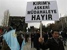 Demonstrace na podporu krymských Tatrů v Anakře.