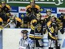 SMUTEK. Hokejisté Litvínova prohráli se Slavií souboj o předkolo play-off.