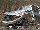 Nehoda u Sobůlek u Kyjova na Hodonínsku. Silnice kvůli čelnímu střetu fabie s...