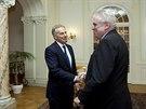 Prezident Miloš Zeman se v sobotu večer setkal s bývalým britským premiérem...
