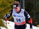 B�ec na ly��ch Luk� Bauer v z�vod� SP na 50 kilometr� klasicky v Oslu.