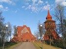 Kostel ve švédském hornickém městečku Kiruna (červen 2013)