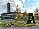 Radnice ve švédském hornickém městečku Kiruna (červen 2013)