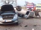Po srážce dvou vozů u Metylovic na Frýdecko-Místecku se zranili čtyři muži. (8....