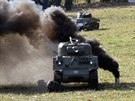 Bitva tankových modelů na brněnském výstavišti připomněla bitvu v Ardenách z...