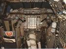 Pilotní kabina sériového letounu Concorde.