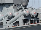 Sila s protilodn�mi raketami S300 na rusk�m k�i�n�ku Moskva. �ernomo�sk�...