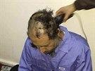 Syn Muammara Kaddáfího ve vězení v Tripolisu krátce po svém zatčení. Fotografii...