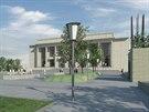Lidé se v novém parku před Janáčkovým divadlem budou prcházet už na podzim roku...