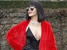 Rihanna p�ed p�ehl�dkou Dior