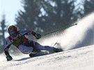 Marcel Hirscher v obřím slalomu v Kranjské Goře.