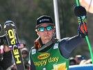 Ted Ligety po vítězství v obřím slalomu v Kranjské Goře.