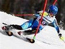 Maria Pietil�ov�-Holmnerov� ve slalomu v Aare.