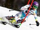 Šárka Strachová ve slalomu v Aare.
