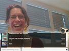 Vtipným doplňkem je chat, který ukazuje ikonky aktuálního obrazu webkamery....