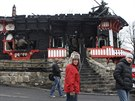 Na vyhořelý Libušín je nyní smutný pohled.