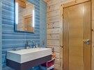 Koupelna je jednoduchá, poskytuje však dostatečné pohodlí.