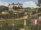 Pohled na hotel Imperial z míst, kde dnes stojí Spa Resort Sanssouci.