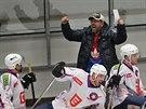 Třebíčtí hokejisté se radují z postupu do prvoligového semifinále