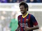 Neymar z Barcelony neměl v zápase s Valladolidem mnoho důvodů k úsměvu...