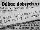 Olga Havlová a svatební oznámení