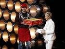 Edgar Martirosyan a moderátorka Oscarů Ellen DeGeneresová (2. března 2014)