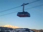 Nová lanovka G-Link spojuje dva lyžařské resorty nad Wagrainem.