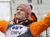 Severin Freund při závodu na Holmenkollenu.