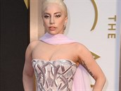 Lady Gaga ve sv�tle r�ov� r�b� z haute couture kolekce Atelier Versace