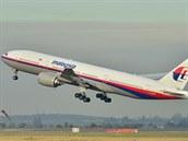Boeing 777-200 malajsijských aerolinek na snímku z roku 2011