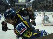 Momentka z hokejového derby Ústí - Most.