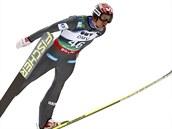Anders Bardal při závodu SP ve skocích na lyžích v Oslu