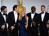 Anthony Katagas, Jeremy Kleiner, Dede Gardnerová, Steve McQueen a Brad Pitt...