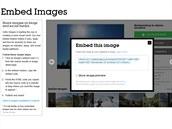 Vygenerovaný kód, který si mohou zájemci o příslušnou fotografii vložit na svůj...