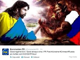 Dobro vždy zvítězí nad zlem, říká ukrajinská propaganda.