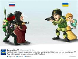 Rozdíl mezi ukrajinským a ruským vojákem podle ukrajinské propagandy