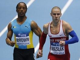 ZA TRIUMFEM. Pavel Maslák na halovém mistrovství světa v Sopotech ve finále závodu na 400 metrů.