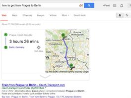 OK, Google, jak se dostat z Prahy do Berlína? Berlín v Německu je tři hodiny a...