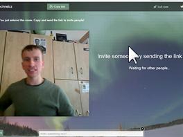 Pozvání do videokonferenční místnosti je jednoduché, stačí zkopírovat odkaz a...