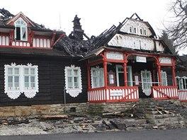 Libušín sloužil jako restaurace. Měl by se dočkat rychlé obnovy.