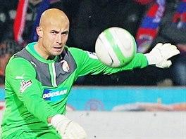 Plzeňský gólman Petr Bolek