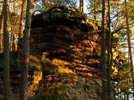 Západ slunce v pískovcových skalách