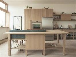 Kuchyňská linka v domácnosti majitelů je jednoduchá a funkční.