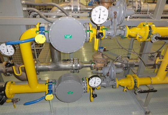 Armatury ARMAGAS po instalaci plynových filtrů.
