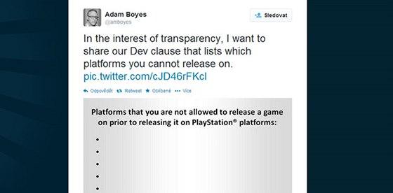 Sony si utahuje z přístupu Microsoftu k nezávislým vývojářům