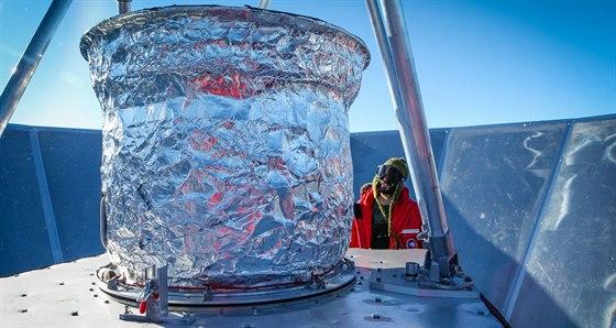 Detektory na vrcholu antény experimentu BICEP2