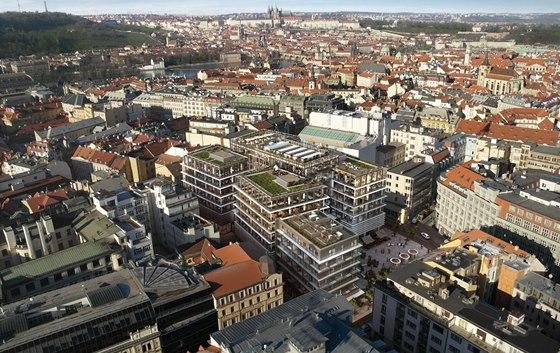 Vizualizace: Pohled na Quadrio v centru Prahy