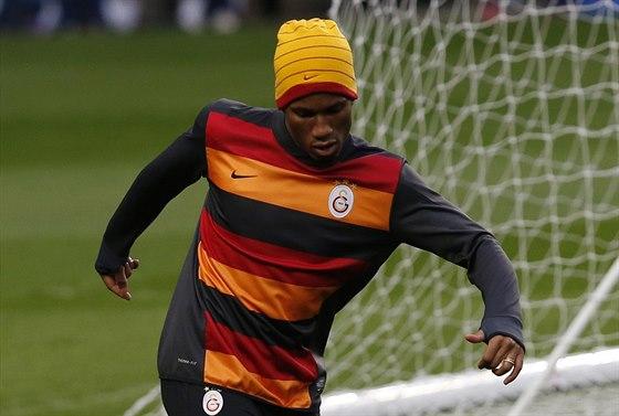 Didier Drogba z Galatasaray během tréninku
